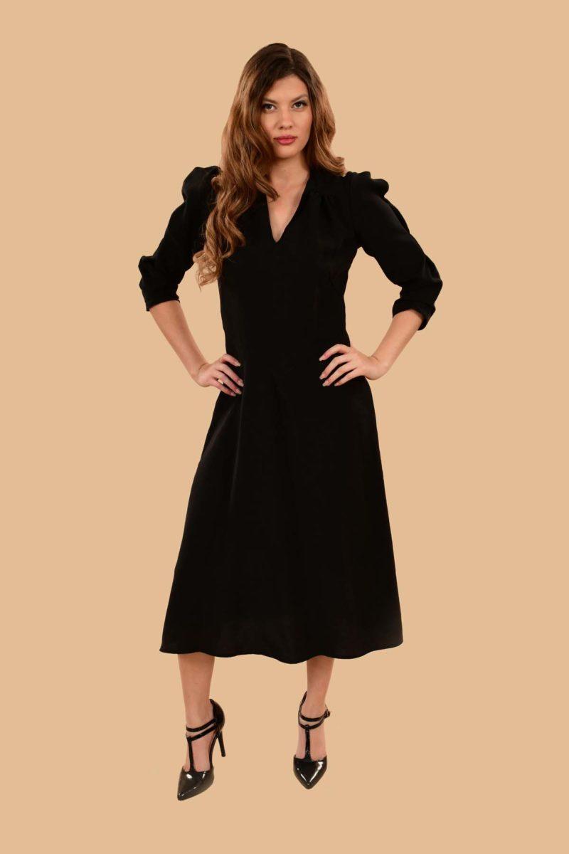 Ava Middy Dress Black