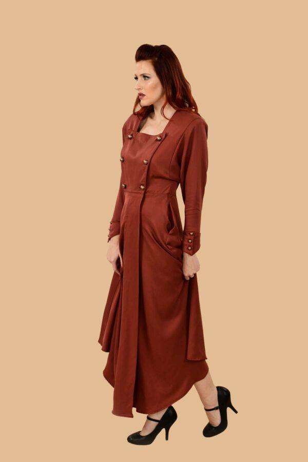 Ginger Military Wrap Dress
