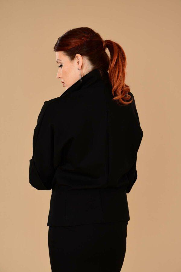Greta Batwing Ponte Suit Jacket Blazer Black