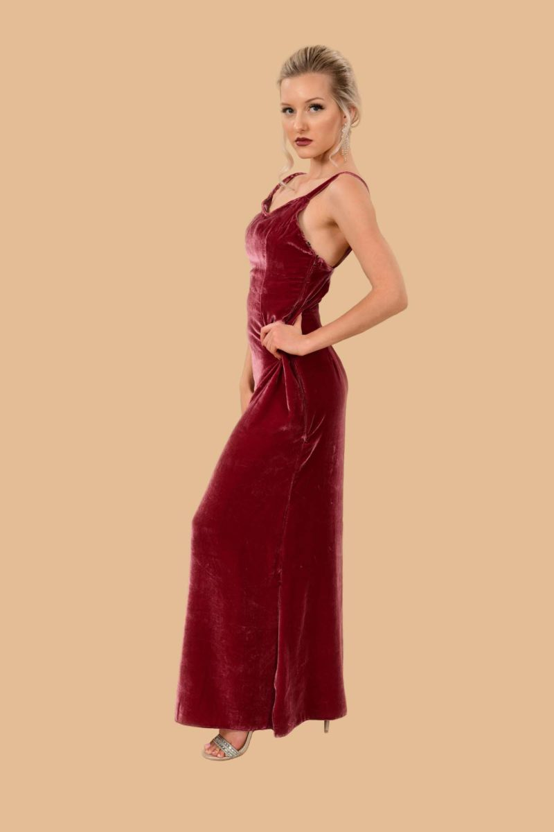 Joan Silk Velvet Slip Dress