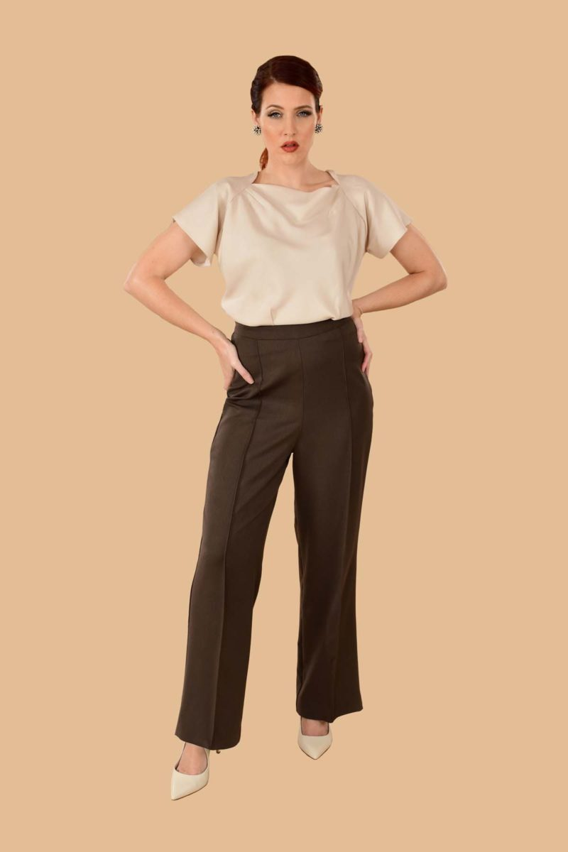 Lauren Sailor Pants Traveler Heather Brown
