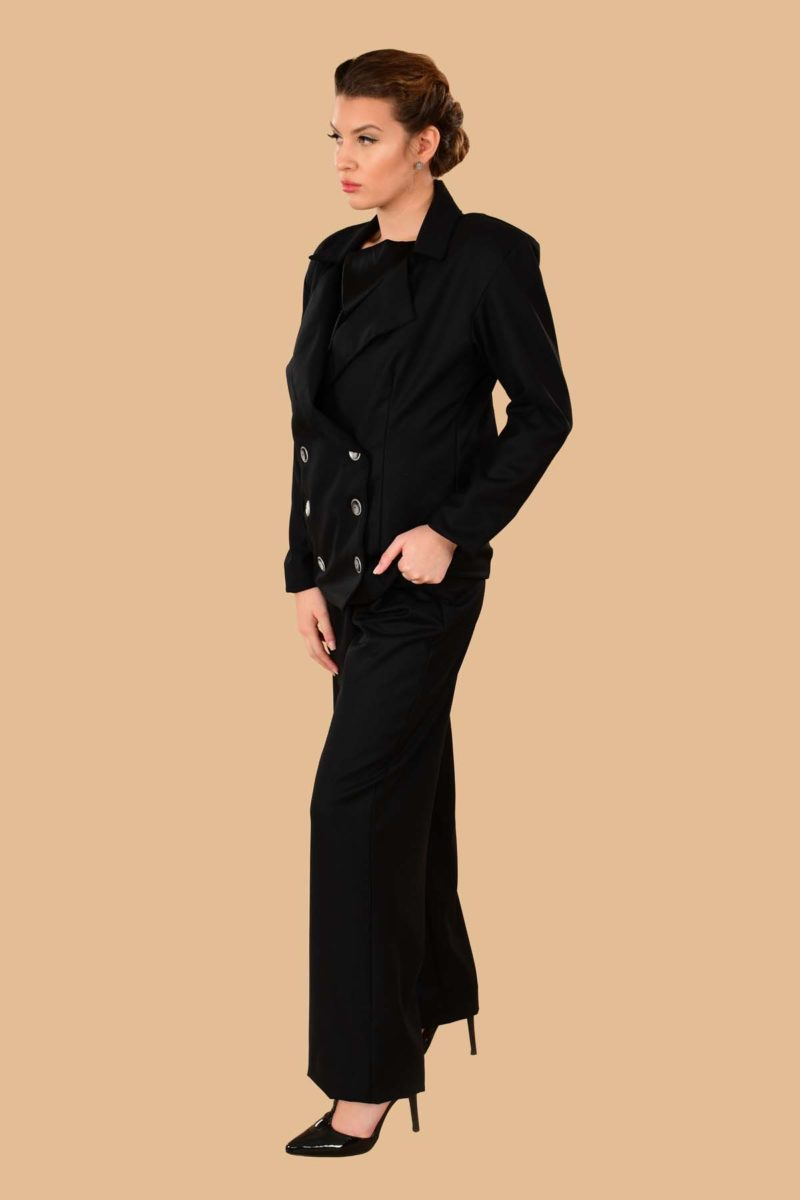 Marlene Signature Italian Wool Suit Black
