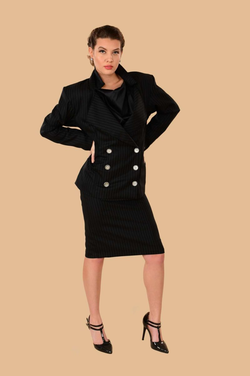 Marlene Signature Italian Wool Skirt Suit