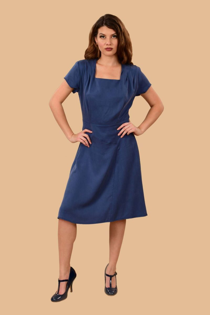 Paulette Middy Dress Denim