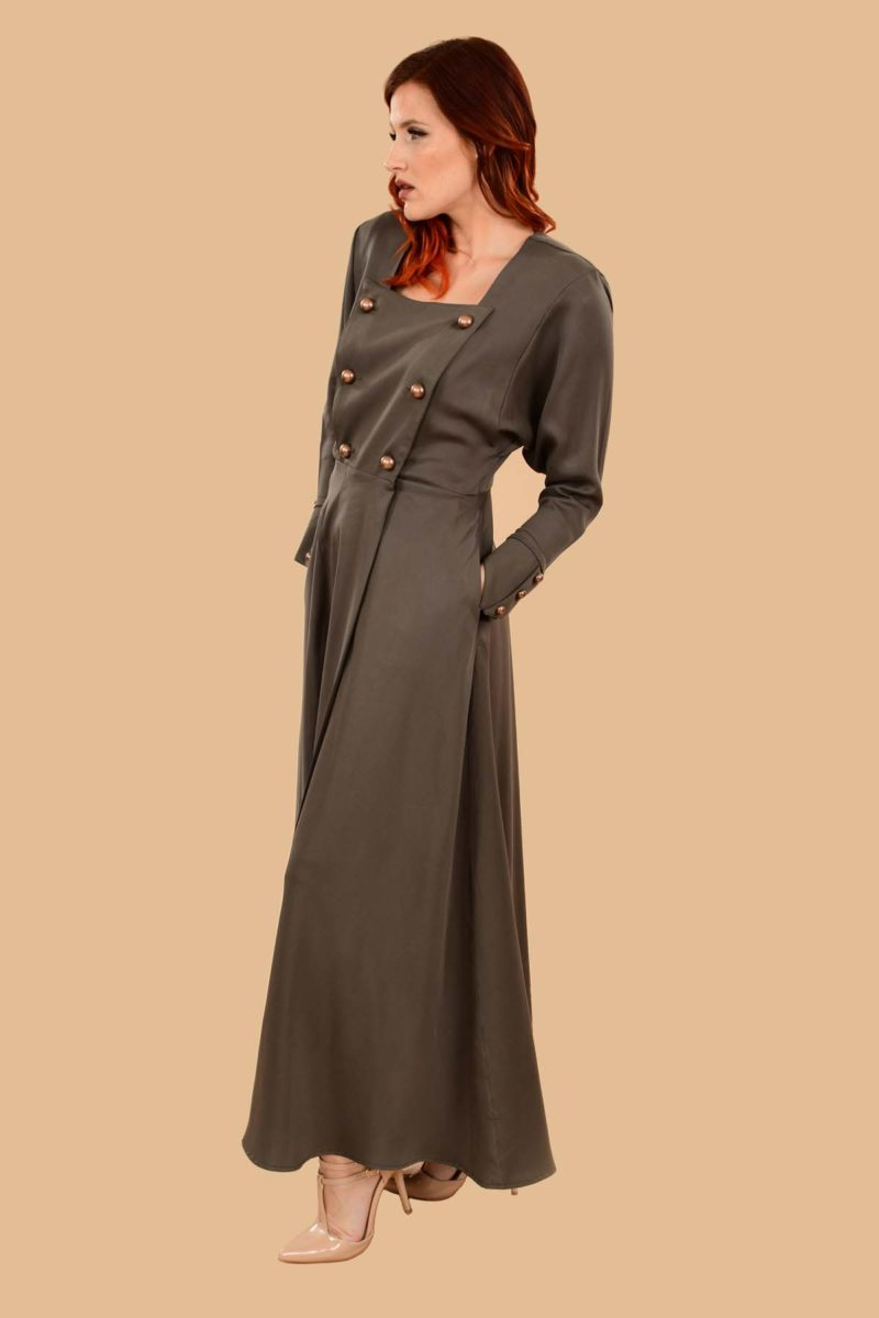 Ginger Military Wrap Dress