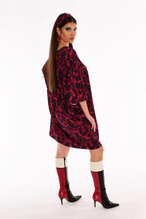 60s Floral Print Kite Dress - Dahlia Daze Floral Print