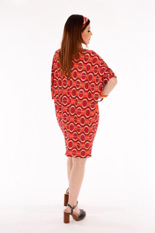 60s Mod Retro Print Kite Dress - Lava Luau Retro Print